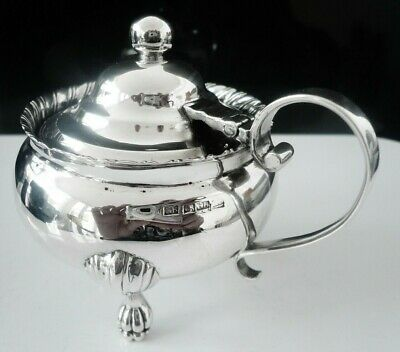 Scottish Provincial Silver Mustard Pot, George Booth ABERDEEN c.1830 CRESTED
