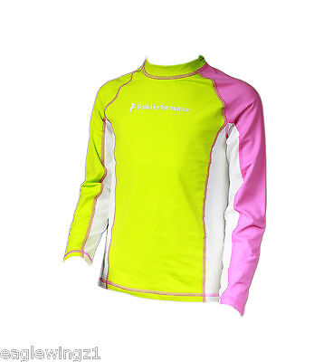 NEW Peak Performance Kids Junior Pink Base Layer LS Top Sports Ski Snow RRP £35