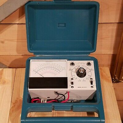 Vtg Heathkit Utility Solid-State Voltmeter IM-5217 w Carrying Case - Swanky Barn
