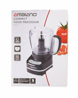 Ambiano Premium Food Processor Blender Grinder Whisk Grater Slicer