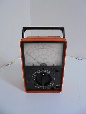 Vintage Triplett Model 60 Type 2 Suspension Ruggedized Analog Volt-Ohm Meter