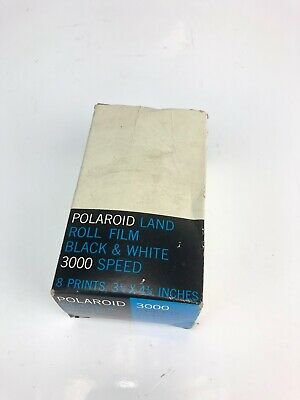Polaroid Land Picture Roll 3000 Speed Type 47 Film Black & White New Expired