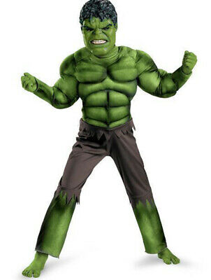 New Incredible Hulk 3-8 Yrs Boys Fancy Dress Kids Marvel Avengers Costume hot UK