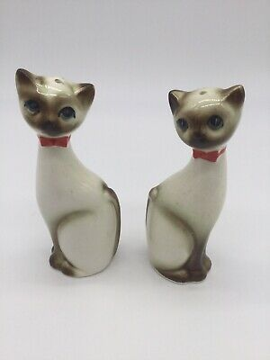 vintage cat salt and pepper shakers Japan