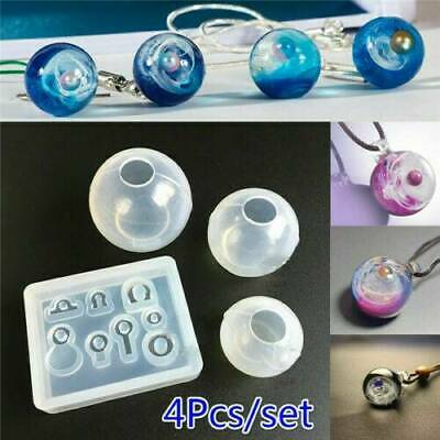 Pendant Transparent Ball Resin Silicone Epoxy Mold Set DIY Jewelry Making Gifts