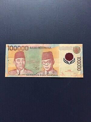 Indonesia Rupiah 100k Denomination Bank Note. Ideal For Collection.