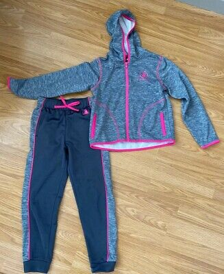 Girls Body Glove Tracksuit Pink and Grey Age 8
