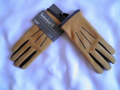 Timberland  Fleece Lined Leather Gloves Touch-Screen Technology Women's Size M L