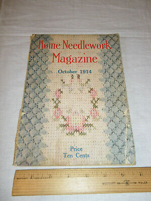 Vintage Home Needlework Magazine October 1914 Patterns Old VTG Booklet Crochet