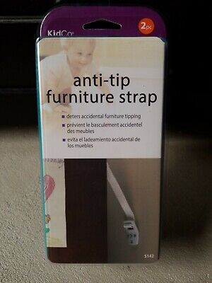 KidCo Anti-tip TV Strap, 2 Count New Sealed Baby / Kid Proofing - FAST FREE SHIP