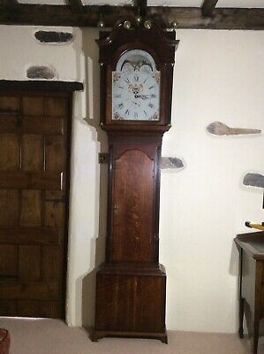 Long case Mahogany 30 Hour  Grandfather Clock. By  Edmund Sagar Of Skipton