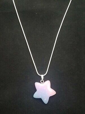 Star Necklace Pendant on Sterling Silver Chain Rainbow Sparkle Star