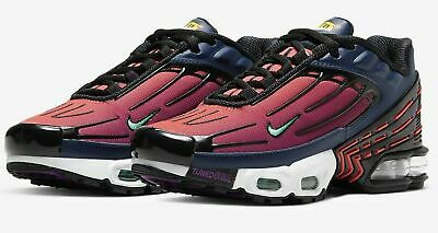 UK size 6 Nike Air Max Plus 3 III girls Blue Void red sports trainers / sneakers