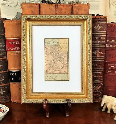 Framed Original 1886 Antique Map UTAH Provo Orem Sandy Ogden Nephi Logan Draper