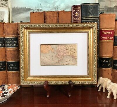 Framed Original 1886 Antique Map ALASKA US Territory Yukon Kodiak Kenai Arctic