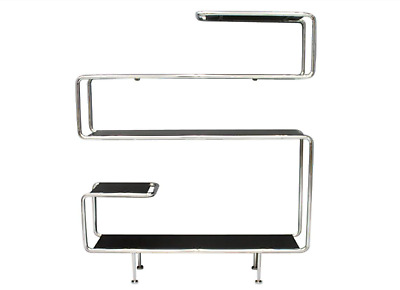 Stahlrohr Wandregal Regal Lack Chrom Schwarz Shelf Steel Tube