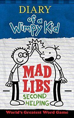 Diary of a Wimpy Kid Mad Libs: Second Helpi by Patrick Kinney New Paperback Book