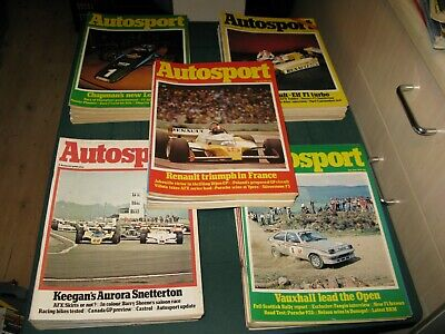 Job Lot Collection Autosport Magazines 1979 - 51 Issues