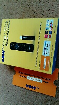 Brand new NOW TV Smart Stick HD streamer entertainment WiFi voice search nowtv.