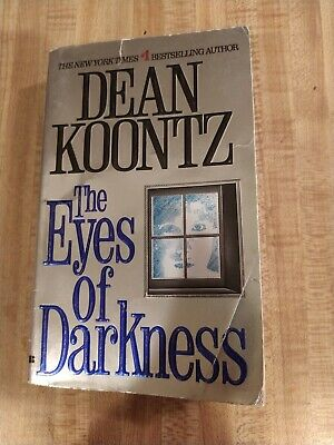 Dean Koontz - THE EYES OF DARKNESS - first edition paperback - outbreak virus 4