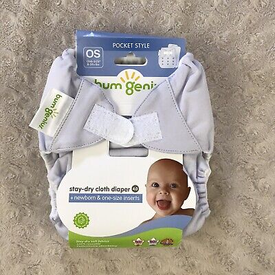 BumGenius 4.0 Pocket Cloth Diaper One Size OS Hook & Loop Bubble Stay Dry