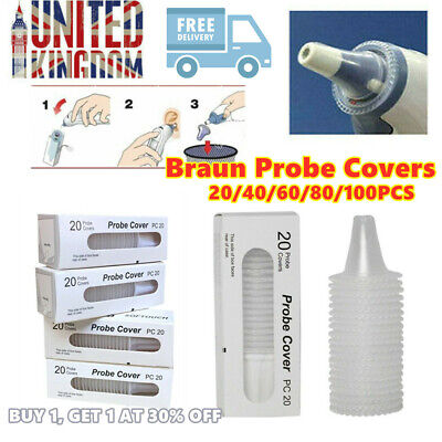 Braun Probe Covers - Thermoscan Replacement Lens Ear Thermometer Filter Caps