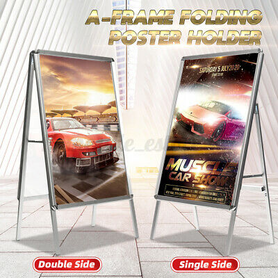 Aluminum Frame Poster Advertising Display Stand Sign Holder Double / Single