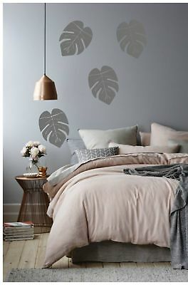 Art Wall Stickers Leaves Home Decor room NEW 4 Set Style Big Green Bedroom