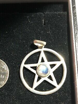 Pentagram with inverted cross pendant 925 sterling silver b35