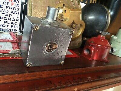 Vintage Industrial Switch Walsall circa 1940/50 man cave light switch Galvanised