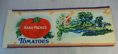1920s Fancy Home Packed Corn /& Tomatoes Can label NEW Vintage Original Label