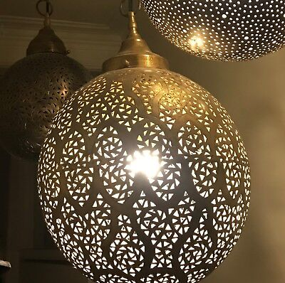 Moroccan very large handmade brass Ceiling pendant, from Marrakesh