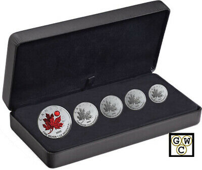 2020 Fractional Set of 5 Fine  Silver Maple Leaf Coins 'O Canada' (18819)