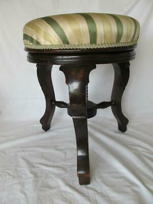 Smart Antique Adjustable Revolving Piano Stool / Seat Faux Rosewood Paint Effect