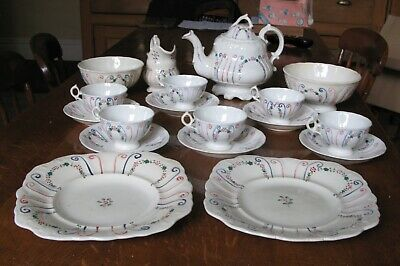 Antique Early 19th Century Georgian English China Tea Set C.1820