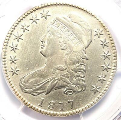 1817 Capped Bust Half Dollar 50C - PCGS XF Details (EF) - Rare Coin - Looks AU!