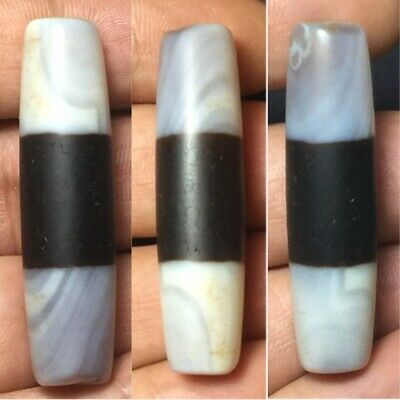 Very old Tibet chung dzi one line agate bead