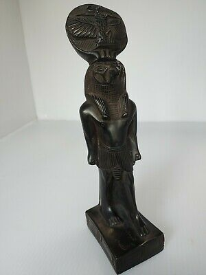 VTG Rare Egyptian Horus Statue Figurine God Eye Falcon Sky Ra Antique Carving