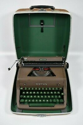 Vintage Royal Quiet Deluxe Portable Typewriter With Case
