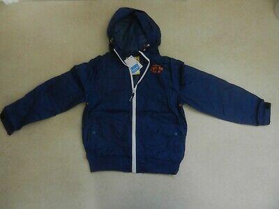 BNWT Next Boys Navy Blue Mesh Lined Hooded Lightweight Jacket Age 9 Years