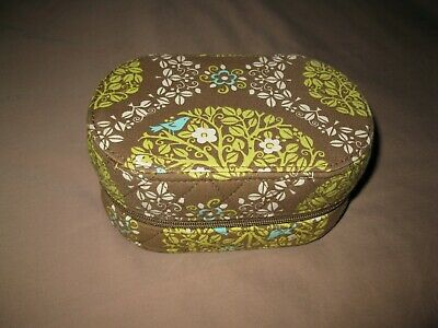 EUC Vera Bradley Sittin' in a Tree Jewelry Box Oval Hard Case