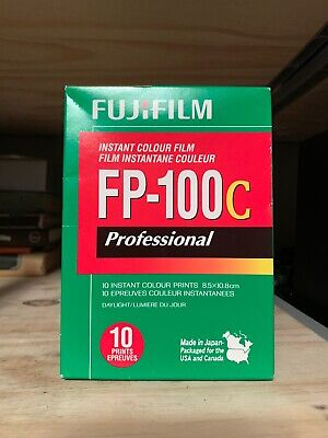 1 PACK FujiFilm FP-100C Instant Color Film 10 Prints Fuji ISO 100 EXPIRED 2017