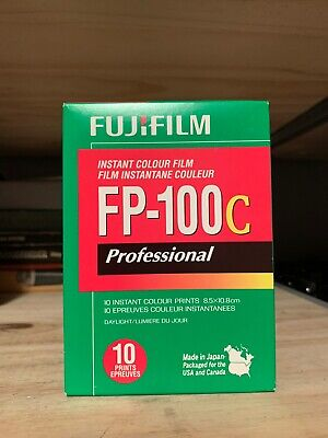 1 PACK FujiFilm FP-100C Instant Color Film 10 Prints Fuji ISO 100 EXPIRED 2013