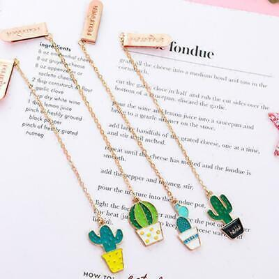 Creative Cactus and Fried Egg Pendant Bookmark Stationery Office New School I9K2