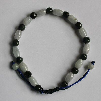 Genuine 100% Natural Grade A Jadeite Jade Beautiful Handmade Bracelet #Br445