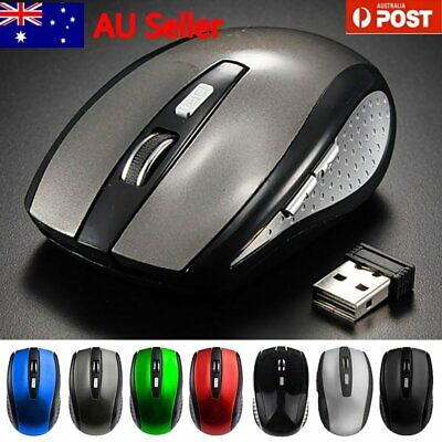 Bluetooth Wireless Rechargeable Mouse Optical Cordless Mice 1600 DPI For Windows