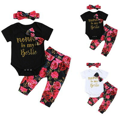 Handsome Like Dad Newborn Baby Boy Clothes Jumpsuit Romper Bodysuit Pants Outfit