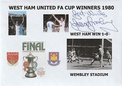 1980 West Ham United Fa Cup Winners Hand Signed Trevor Brooking Football Cover