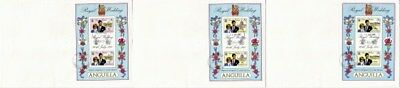 Anguilla 1981 Royal Wedding M/Sheets On Three First Day Covers