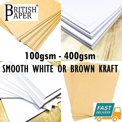 A6 A5 A4 A3 A2 CARD THICK CRAFT PRINTER PAPER CARDBOARD BROWN KRAFT WHITE 300gsm